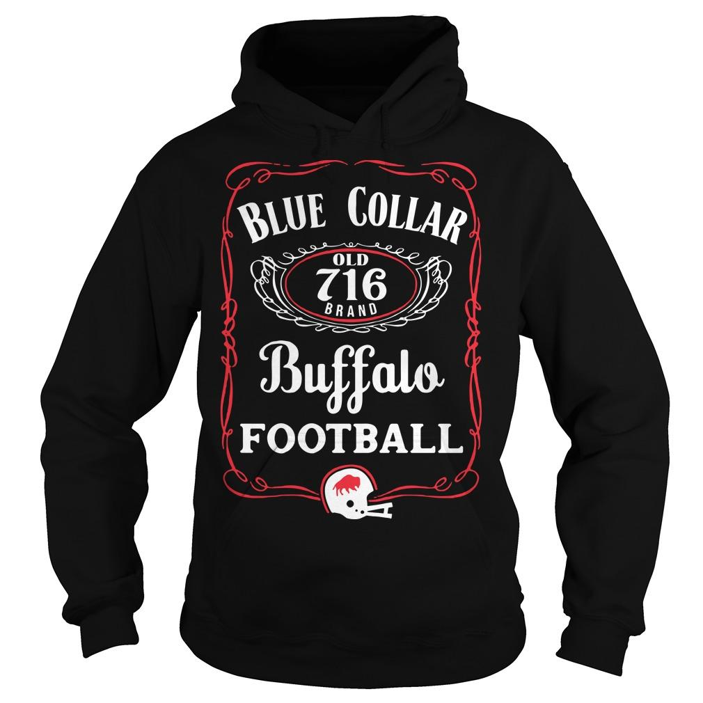 Blue Collar Buffalo Football Hoodie