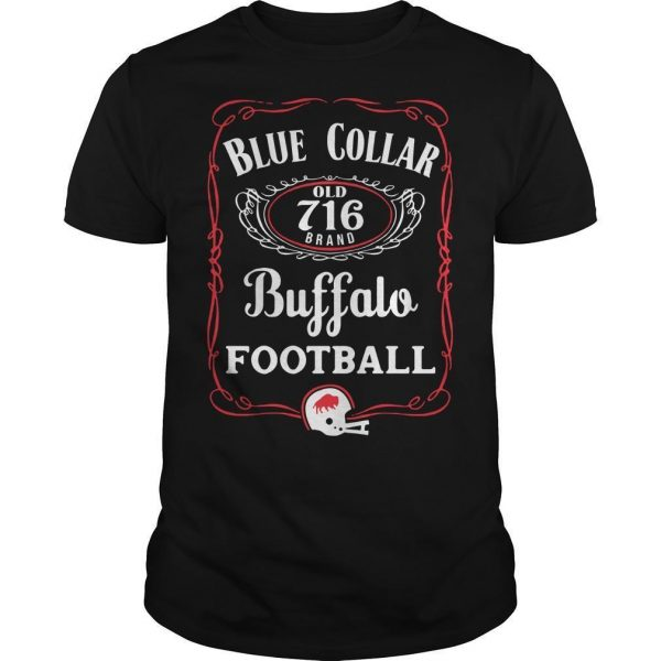 Blue Collar Buffalo Football Shirt