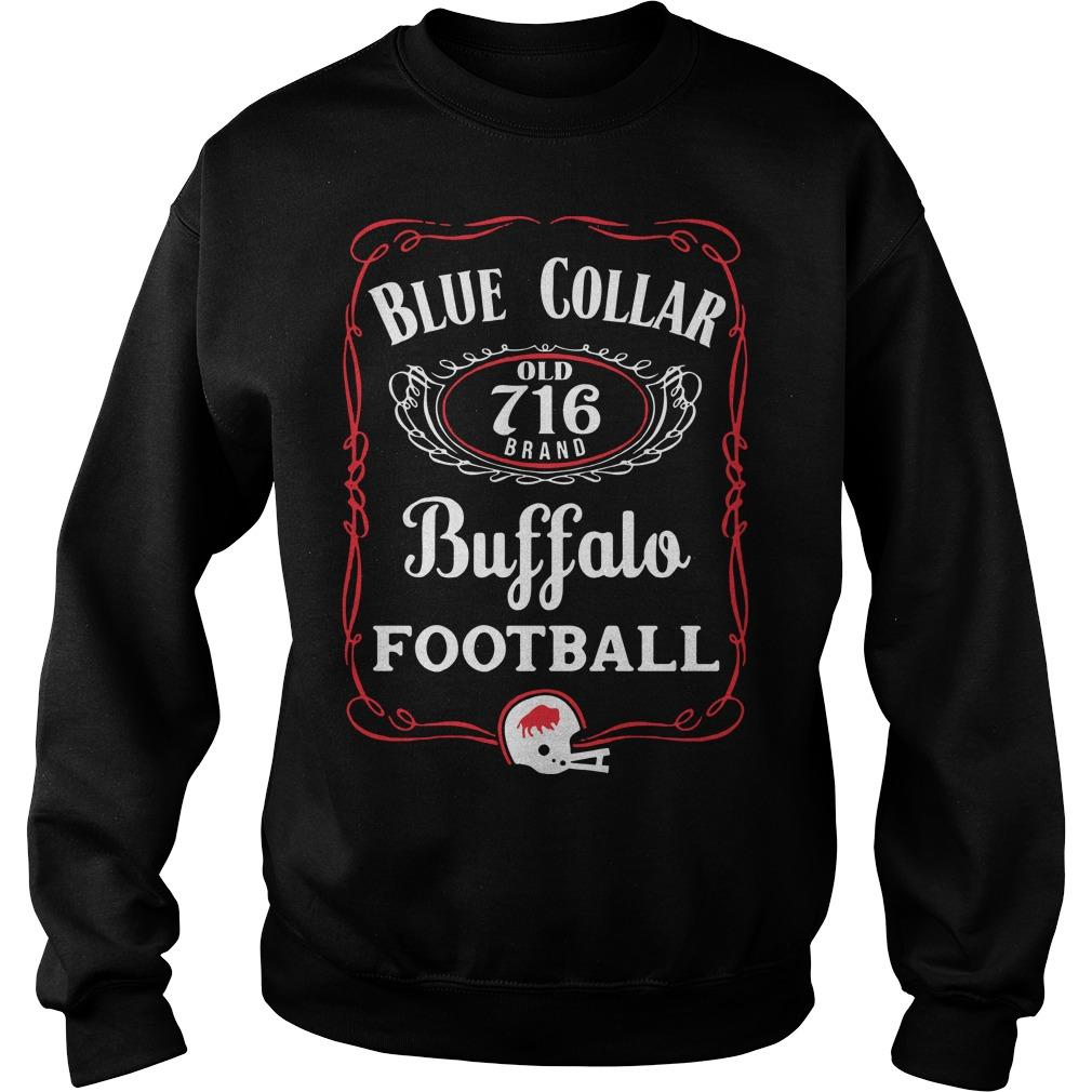 Blue Collar Buffalo Football Sweater
