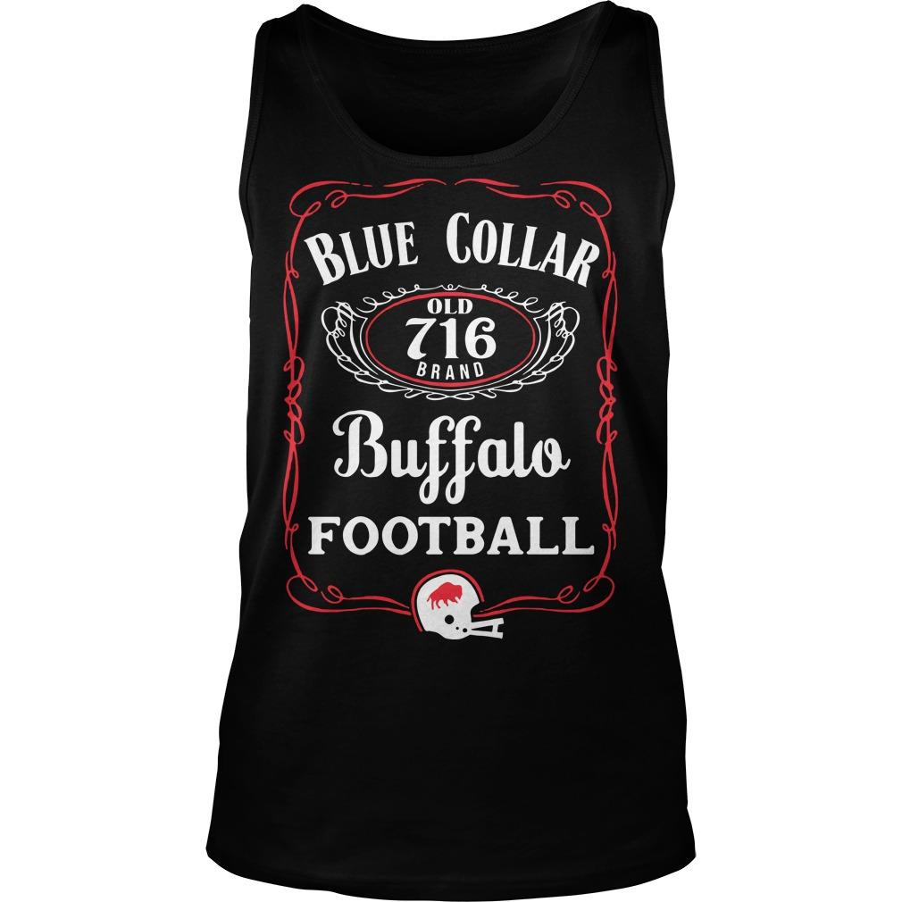 Blue Collar Buffalo Football Tank Top