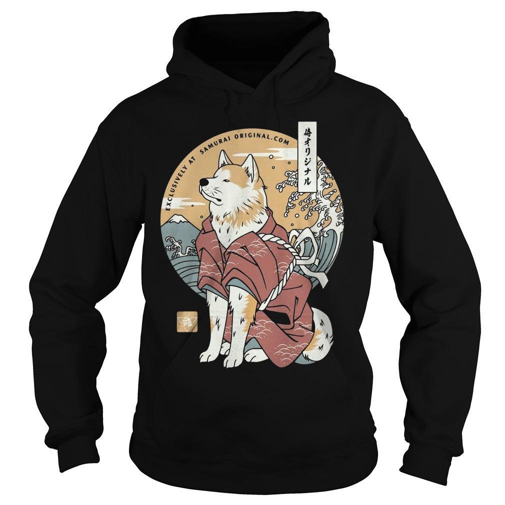 Dog Akita Exclusively At Samurai Hoodie