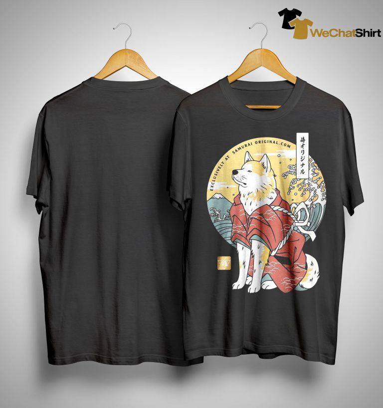 Dog Akita Exclusively At Samurai Shirt