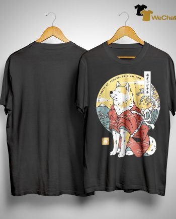 Dog Akita Exclusively At Samurai Shirt