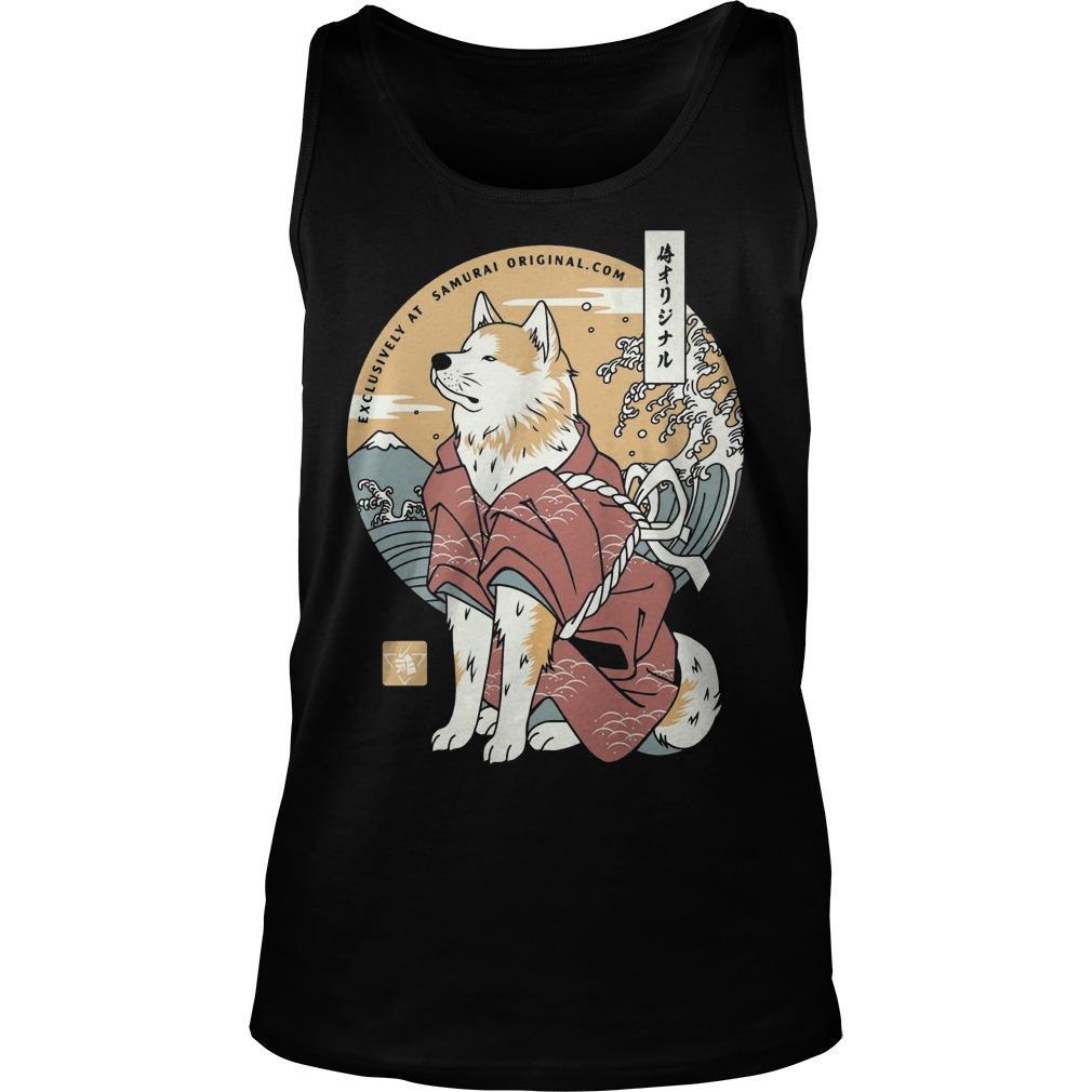 Dog Akita Exclusively At Samurai Tank Top