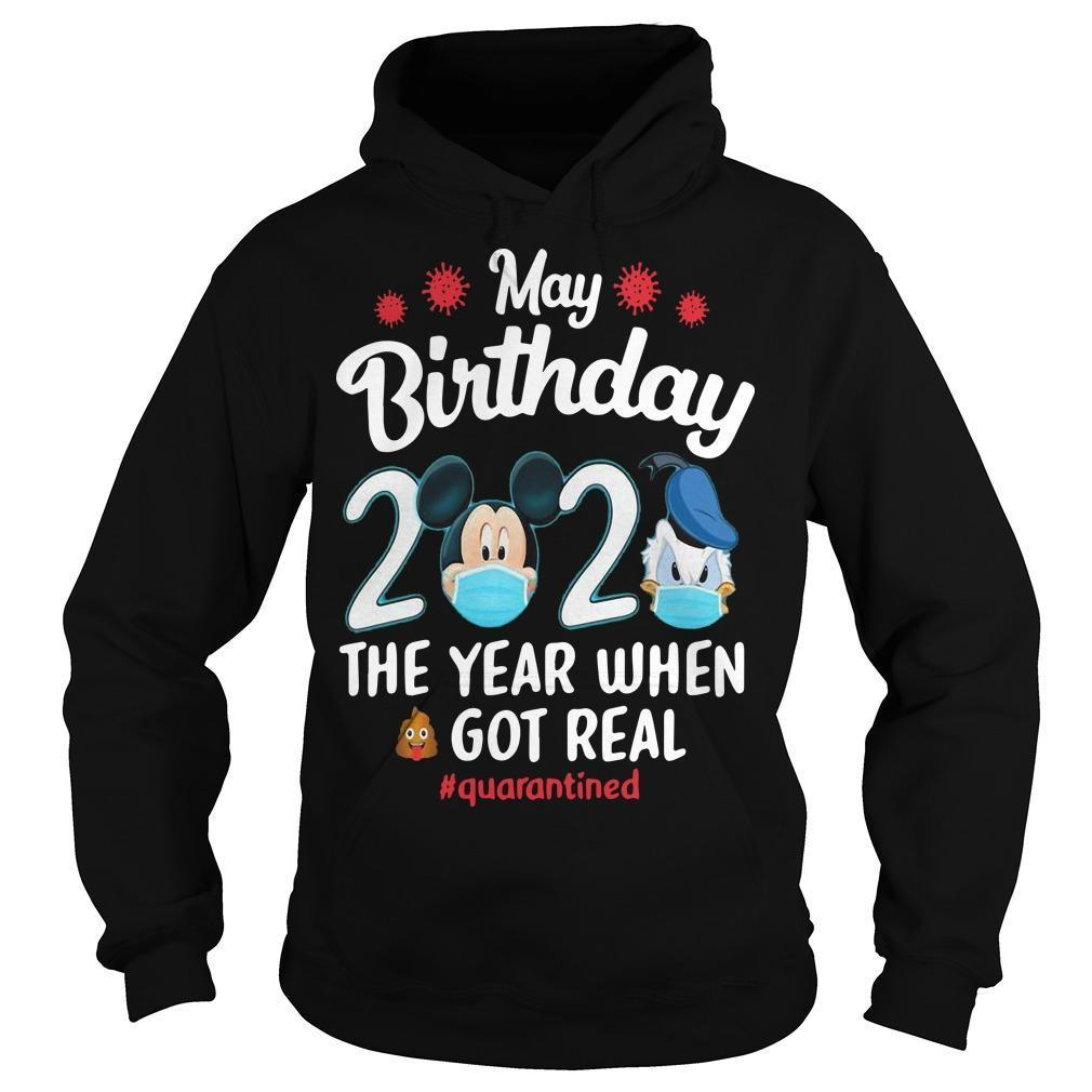 Donald Have A Farm May Birthday 2020 The Year When Shit Got Real Quarantined Hoodie