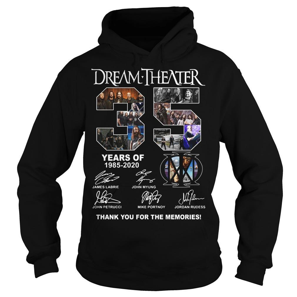 Dream Theater 35 Years Of 1985 2020 Thank You For The Memories Hoodie