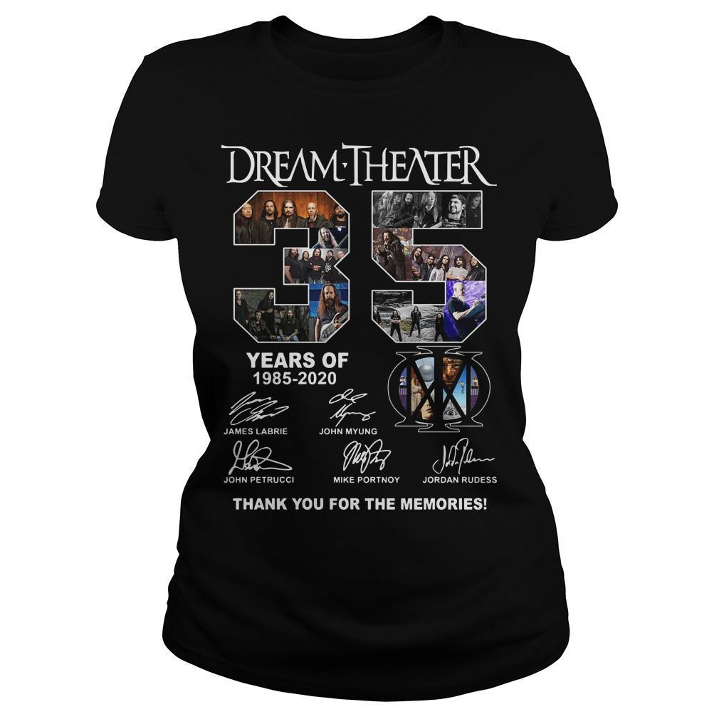 Dream Theater 35 Years Of 1985 2020 Thank You For The Memories Longsleeve
