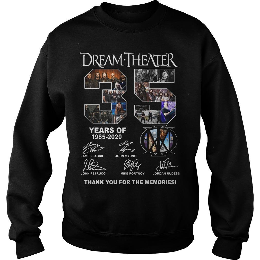Dream Theater 35 Years Of 1985 2020 Thank You For The Memories Sweater