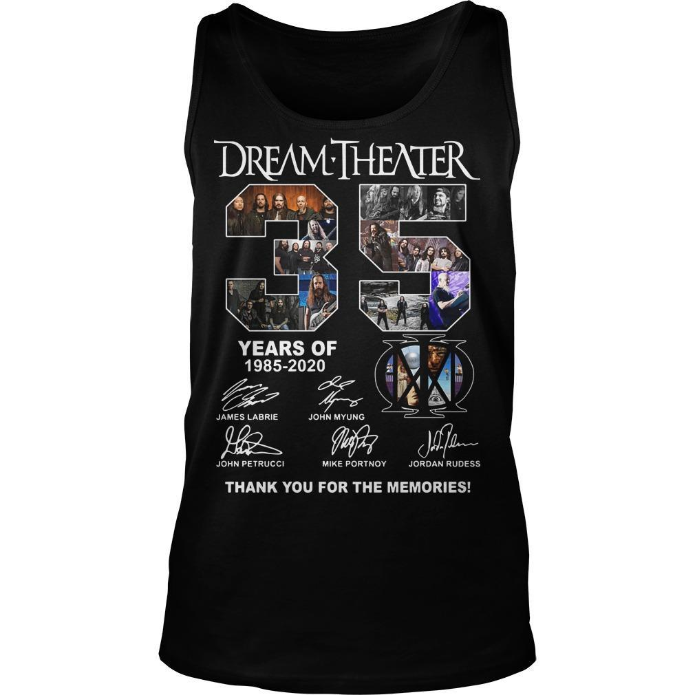 Dream Theater 35 Years Of 1985 2020 Thank You For The Memories Tank Top