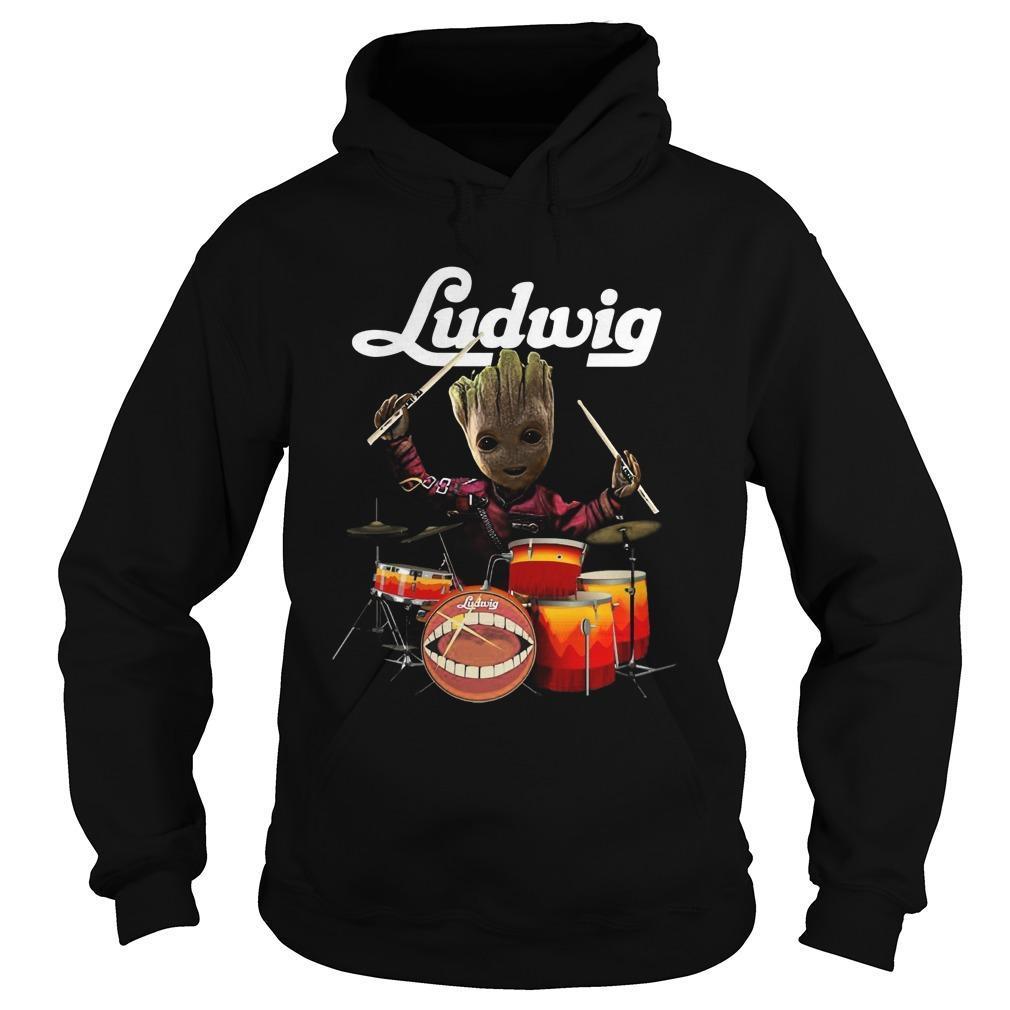 Drums Baby Groot Ludwig Hoodie