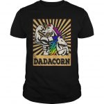 Fathers Day Dadicorn Daddycorn Unicorn Dad Baby Dadacorn Shirt