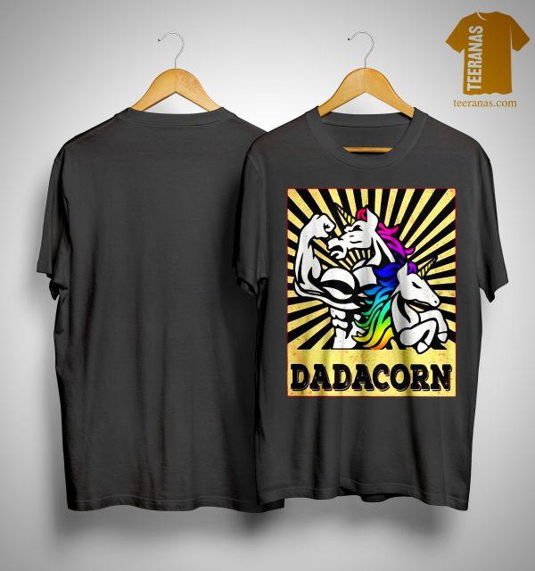 Fathers Day Dadicorn Daddycorn Unicorn Dad Baby Dadacorn Shirt