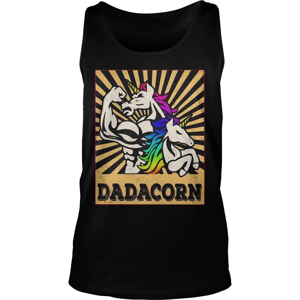 Fathers Day Dadicorn Daddycorn Unicorn Dad Baby Dadacorn Tank Top