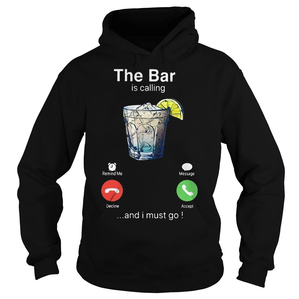Gin The Bar Is Calling And I Must Go Hoodie