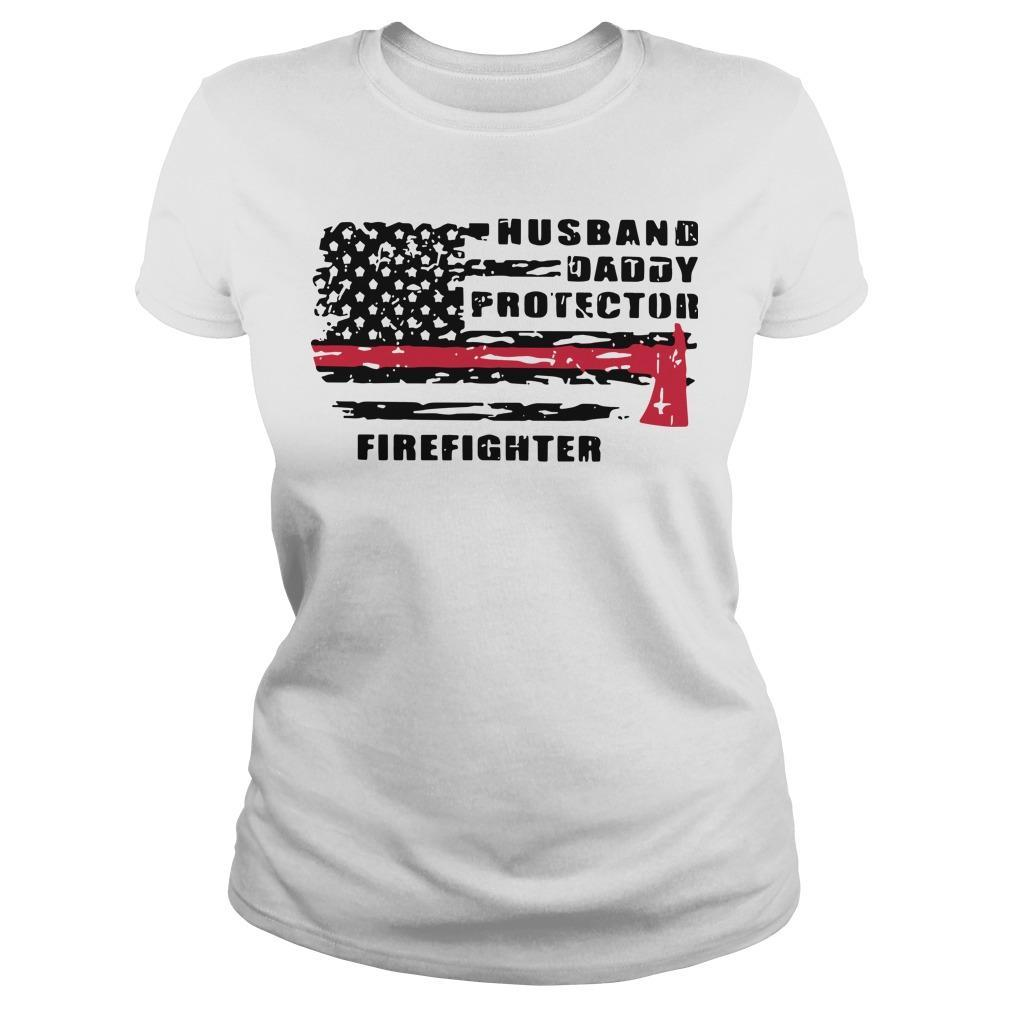 Husband Daddy Protector Firefighter Longsleeve