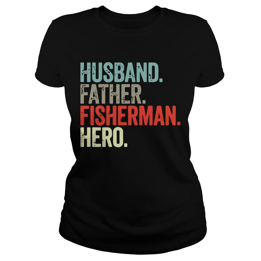 Husband Father Fisherman Hero Longsleeve