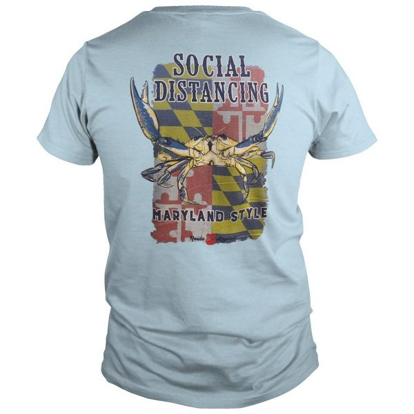 Larry Hogan Social Distancing Maryland Style Shirt
