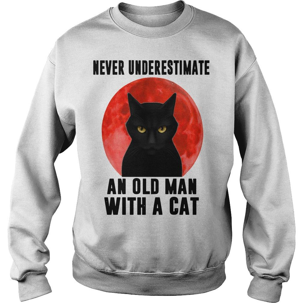 Never Underestimate An Old Man With A Cat Sweater