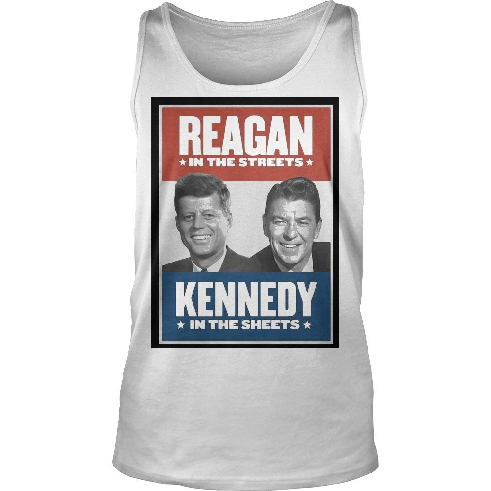 Reagan In The Streets Kennedy In The Sheets Tank Top