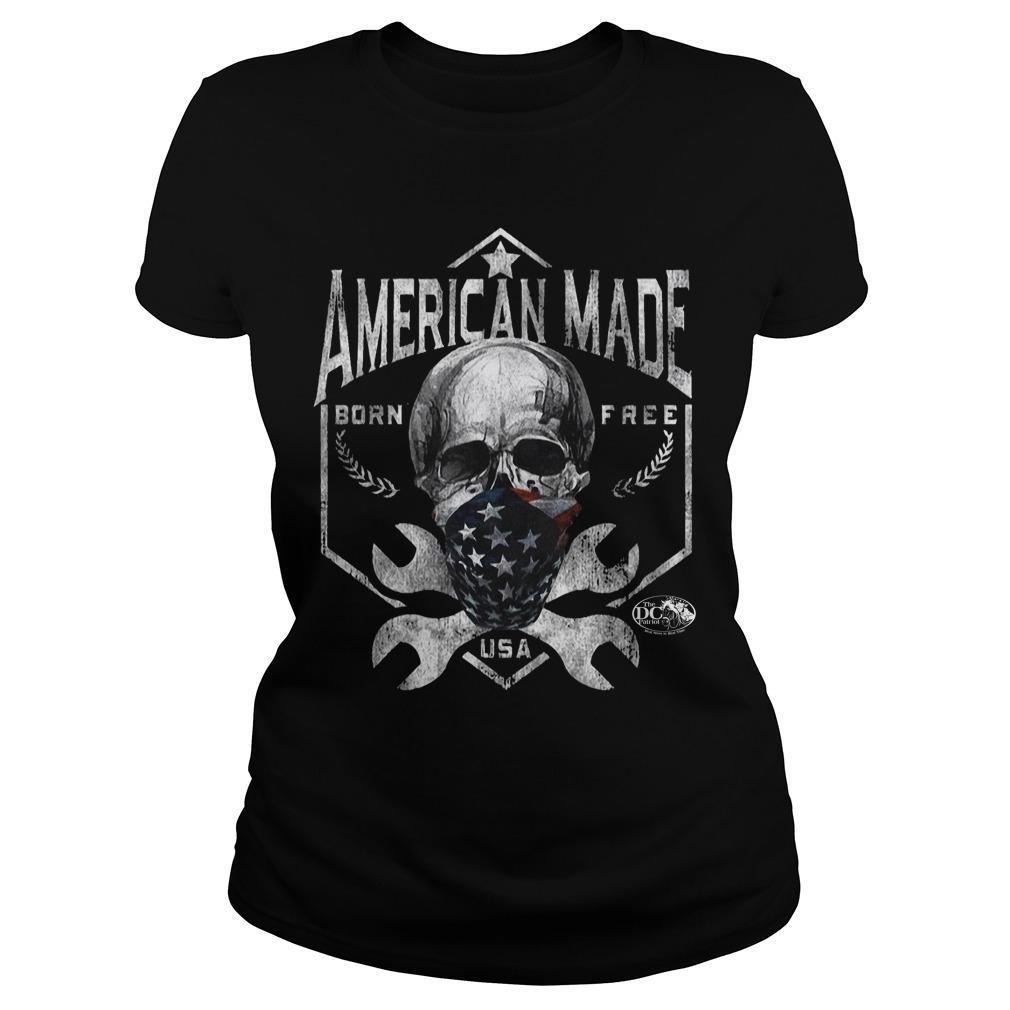 Skull American Made Born Free Usa Longsleeve