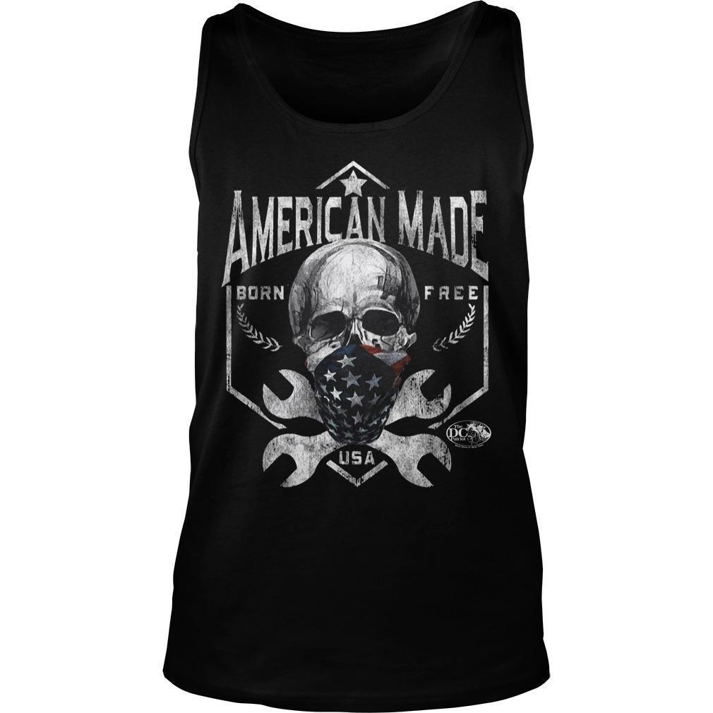 Skull American Made Born Free Usa Tank Top