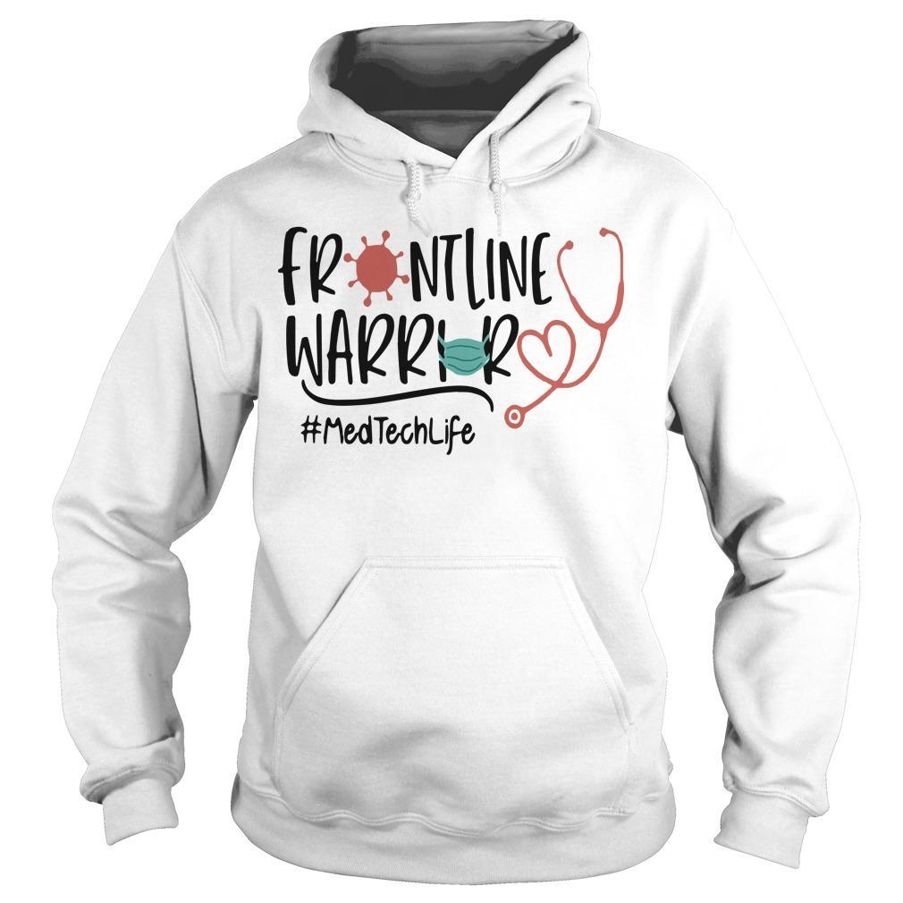 Stethoscope Frontline Warrior Med Tech Life Hoodie