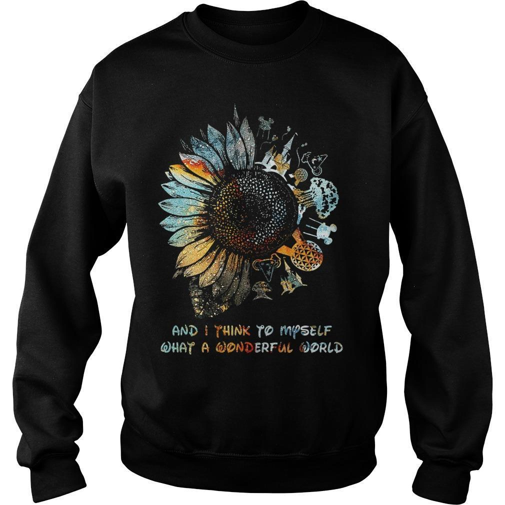 Sunflower Disney And I Think To Myself What A Wonderful World Sweater