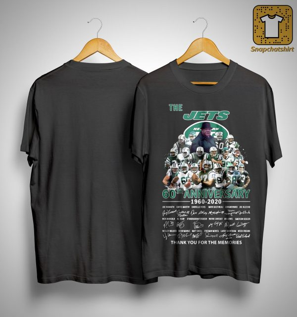 The Jets 60th Anniversary 1960 2020 Thank You For The Memories Shirt