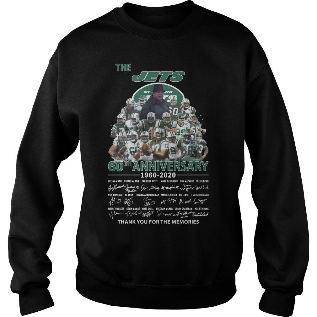 The Jets 60th Anniversary 1960 2020 Thank You For The Memories Sweater
