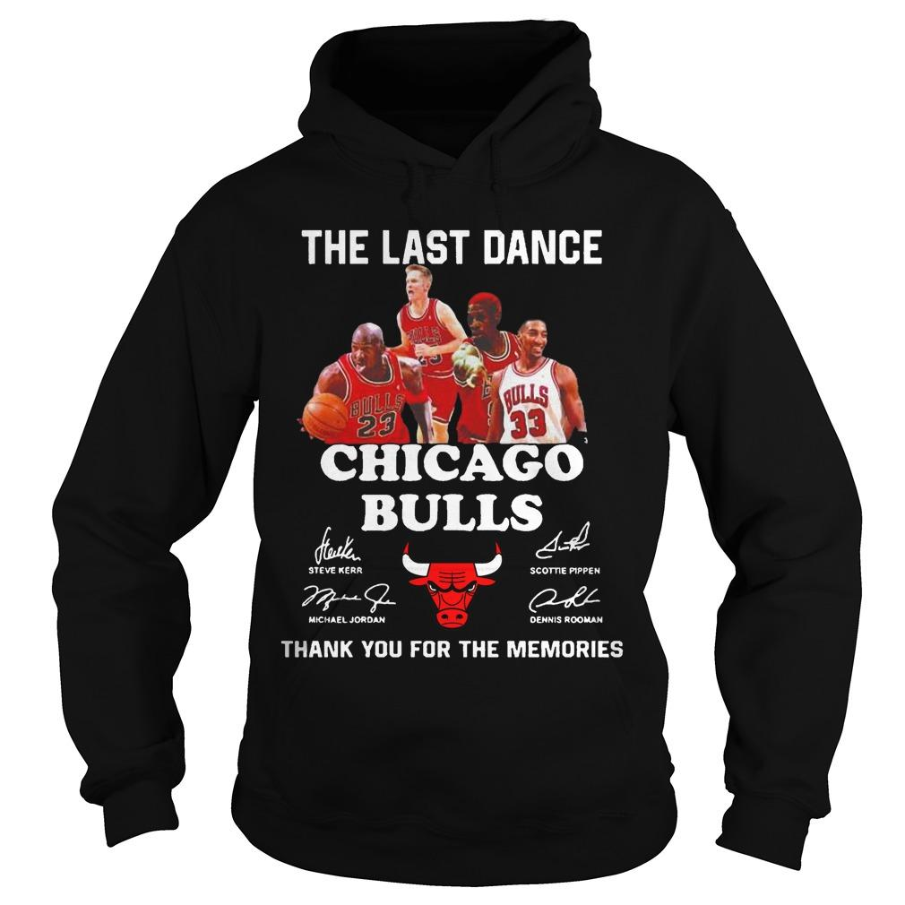 The Last Dance Thank You For The Memories Chicago Bulls T Hoodie