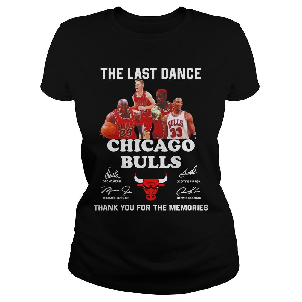 The Last Dance Thank You For The Memories Chicago Bulls T Longsleeve