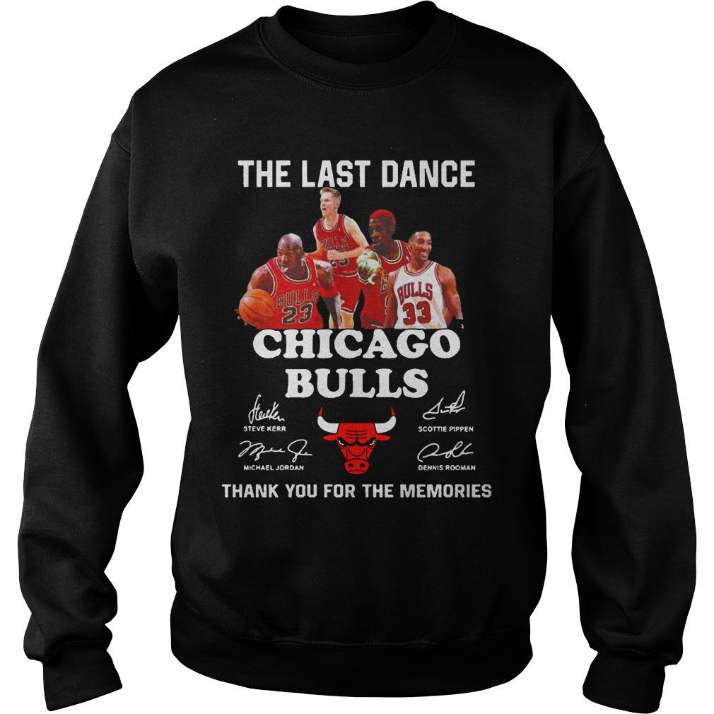 The Last Dance Thank You For The Memories Chicago Bulls T Sweater