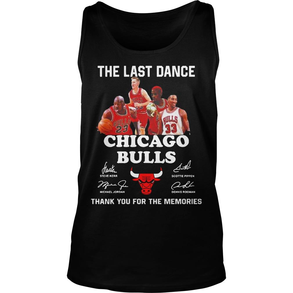 The Last Dance Thank You For The Memories Chicago Bulls T Tank Top