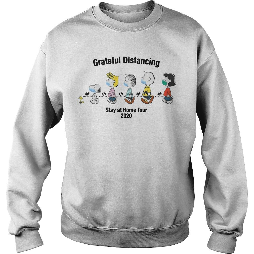 The Peanuts Face Mask Grateful Distancing Stay At Home Tour 2020 Sweater