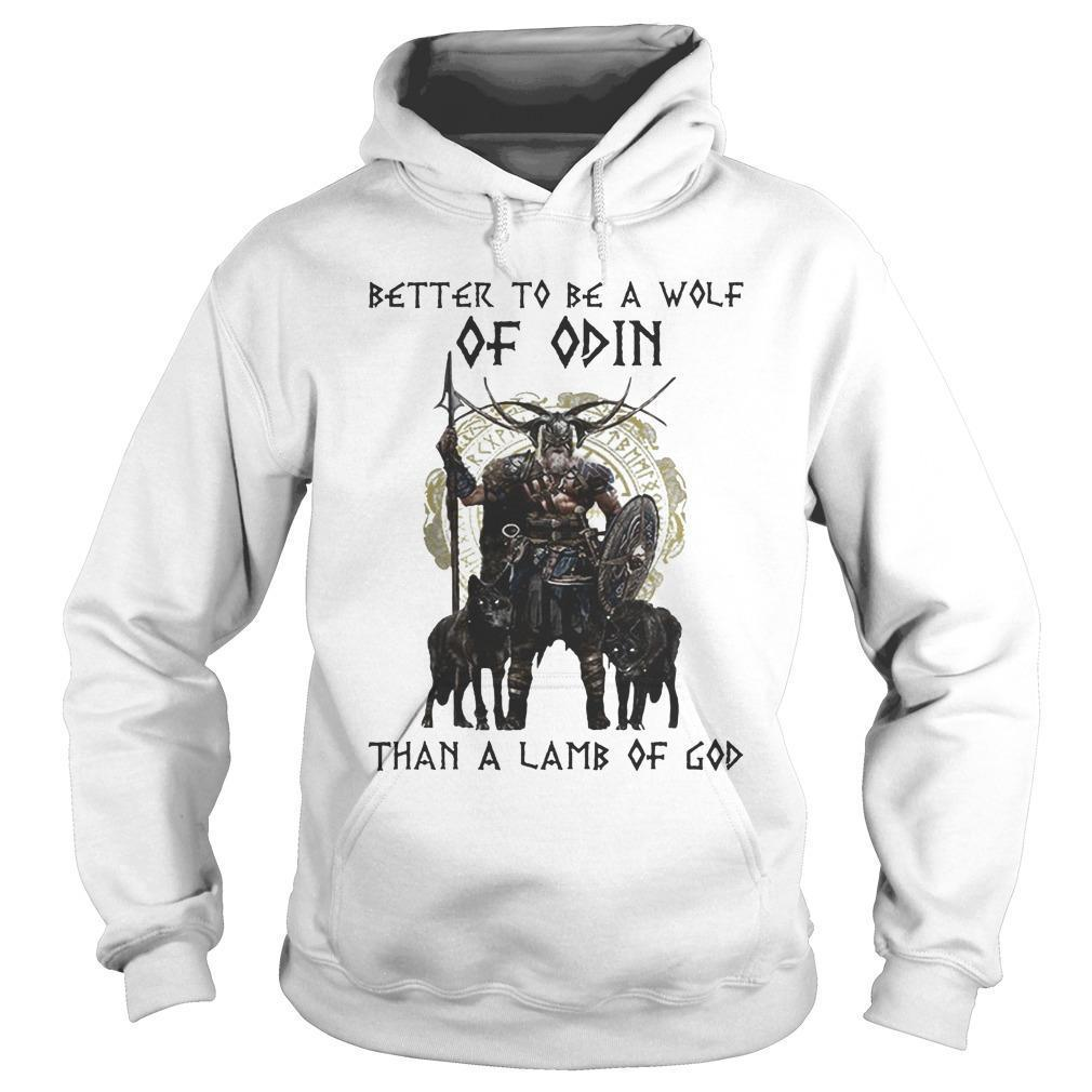 Vikings Better To Be A Wolf Of Odin Than A Lamb Of God Hoodie