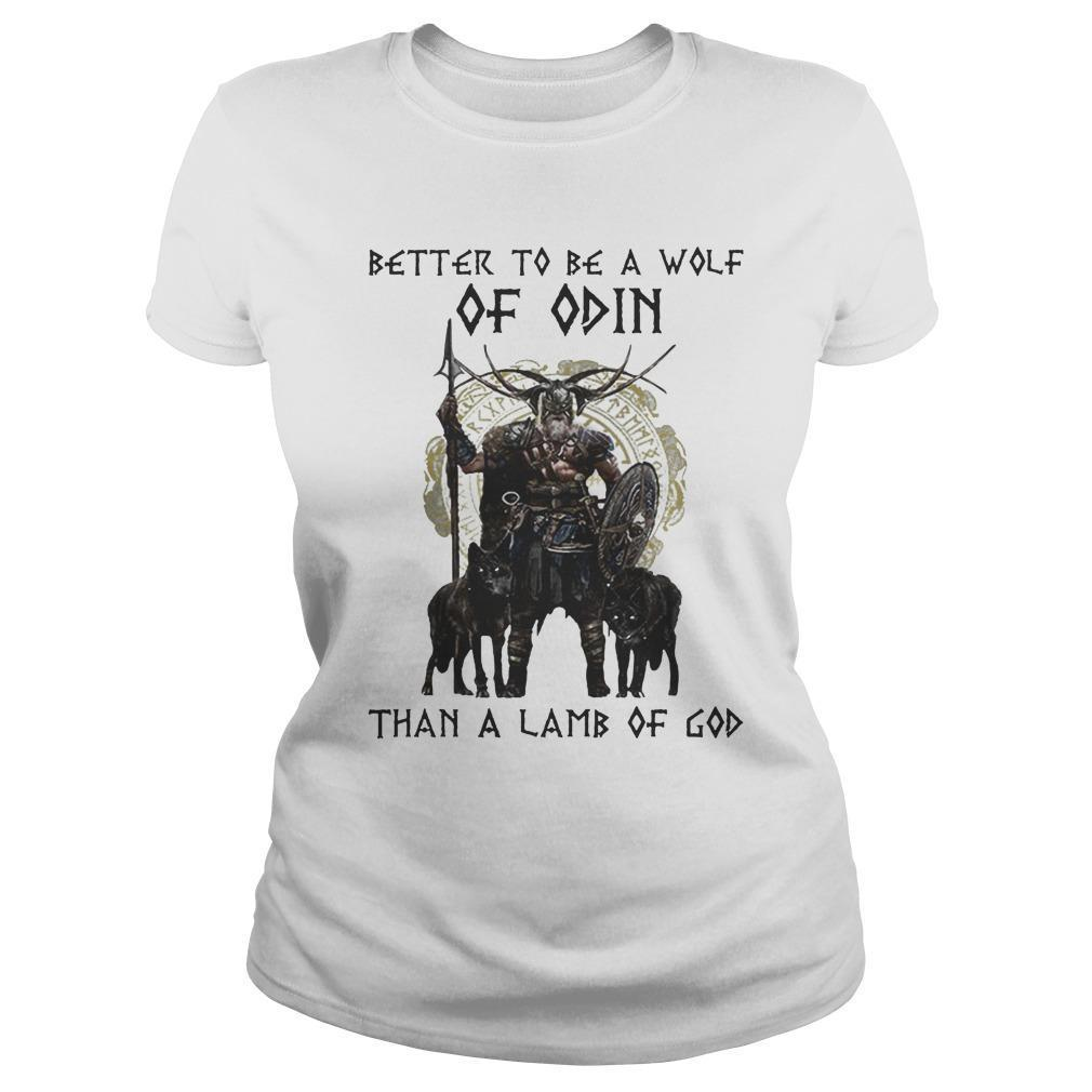 Vikings Better To Be A Wolf Of Odin Than A Lamb Of God Longsleeve