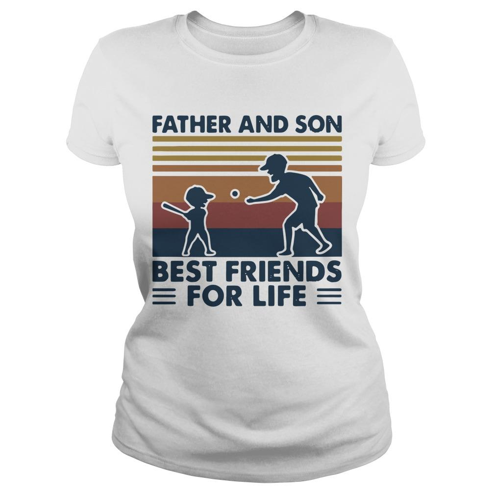 Vintage Baseball Father And Son Best Friends For Life Longsleeve
