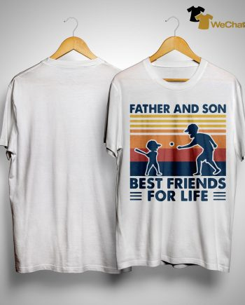 Vintage Baseball Father And Son Best Friends For Life Shirt