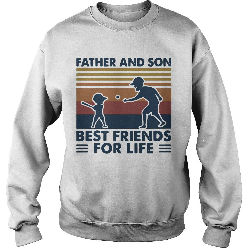Vintage Baseball Father And Son Best Friends For Life Sweater