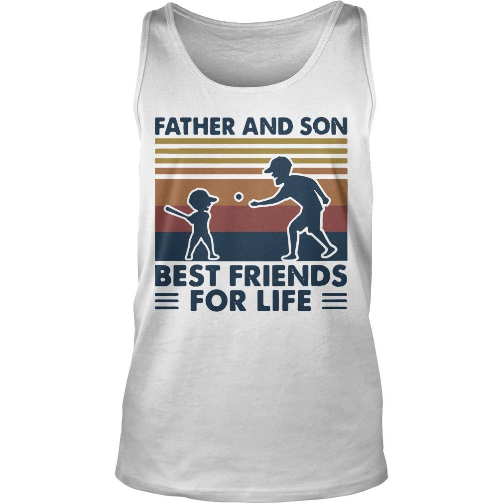 Vintage Baseball Father And Son Best Friends For Life Tank Top