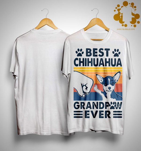 Vintage Best Chihuahua Grandpaw Ever Shirt