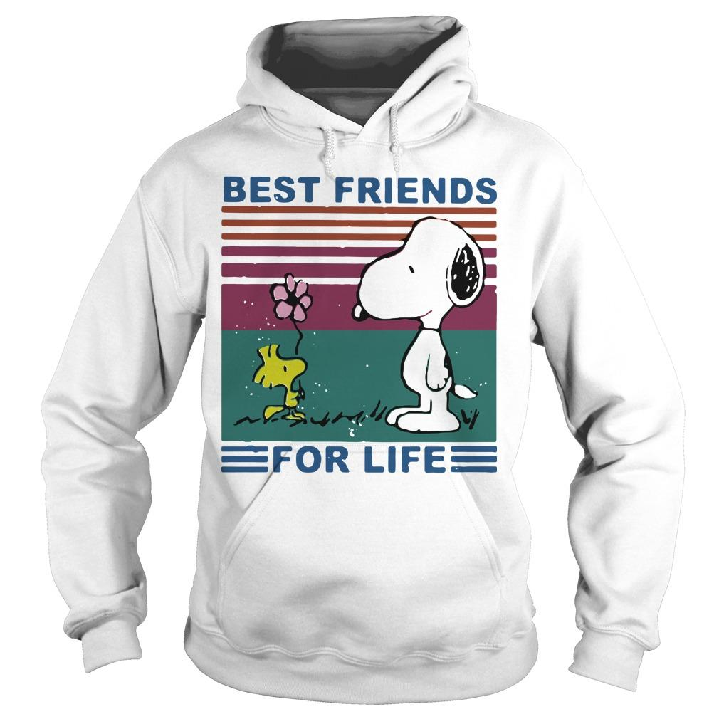 Vintage Best Friends For Life Snoopy T Hoodie