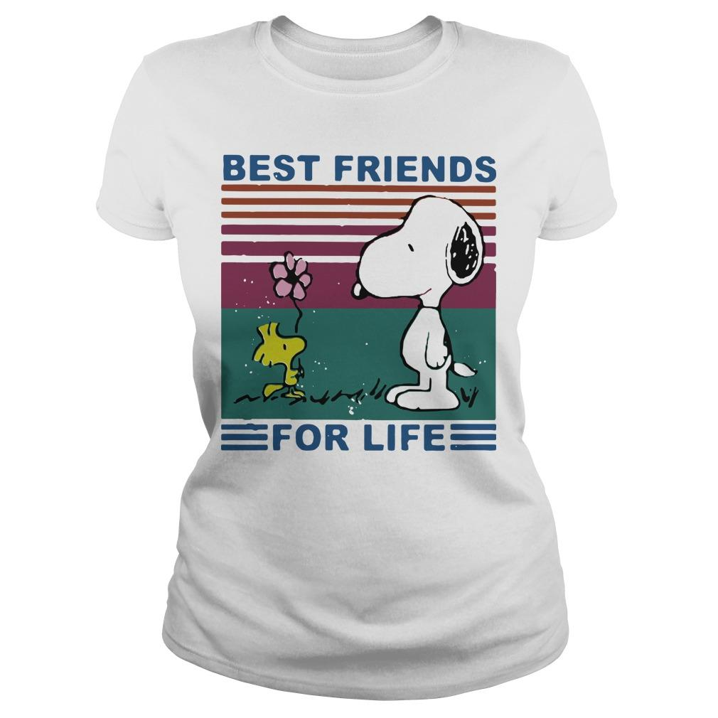 Vintage Best Friends For Life Snoopy T Longsleeve