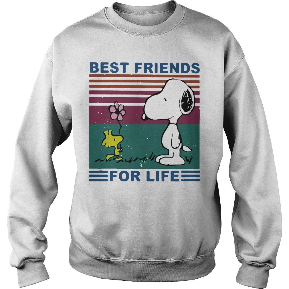Vintage Best Friends For Life Snoopy T Sweater