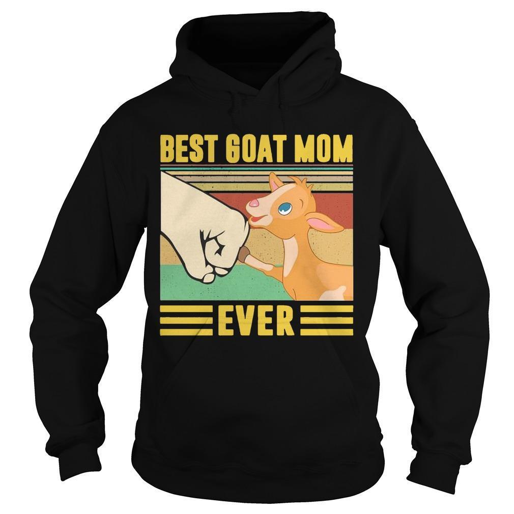 Vintage Best Goat Mom Ever Hoodie
