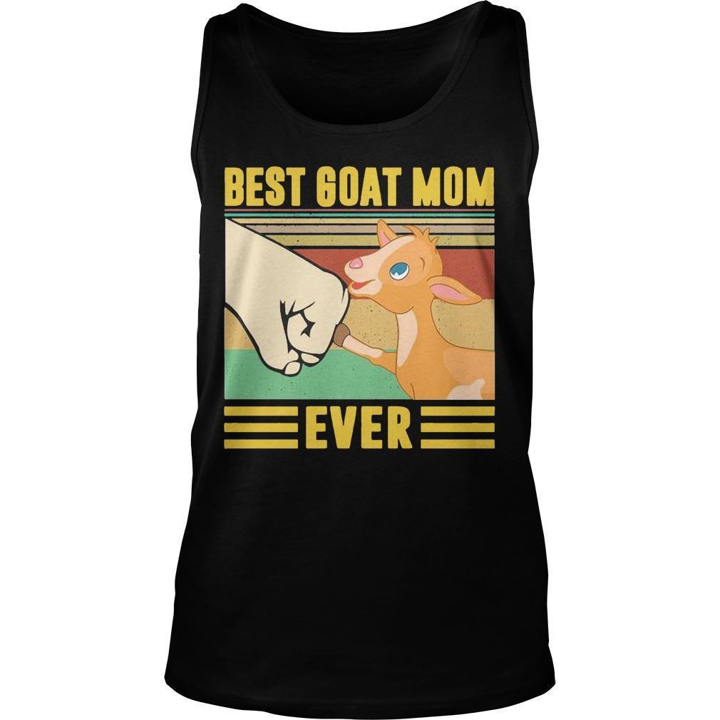 Vintage Best Goat Mom Ever Tank Top