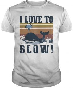 Vintage Blue Whale I Love To Blow Shirt