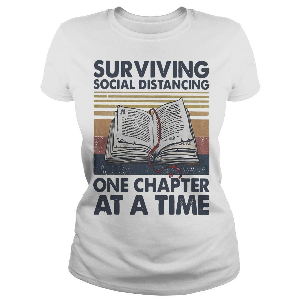 Vintage Book Surviving Social Distancing One Chapter At A Time Longsleeve