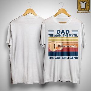 Vintage Dad The Man The Myth The Guitar Legend Shirt