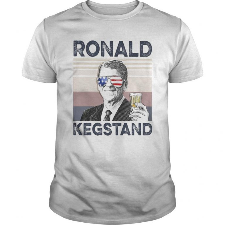 Vintage Drinking Beer Ronald Kegstand Shirt